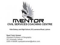 Mentor Civil Services Coaching Centre